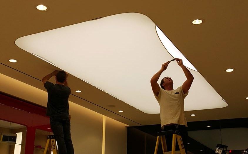 plafond tendu pose